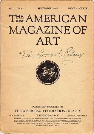 THE AMERICAN MAGAZINE OF ART: VOL. 17, NO. 9 – SEPTEMBER, 1926.